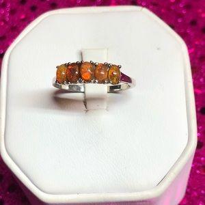 Dark Ethiopian Opal Sterling Silver Ring